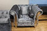 Sede italiana moderna del sofà 1 del piedino dell'acciaio inossidabile di ricezione dell'hotel della mobilia del salone