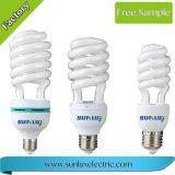 T4 E27 6500K 25W halbe gewundene energiesparende Lampe