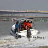 Liya 10 Persons Fiberglass Rescue Boat Fast Patrol Boat Dirty