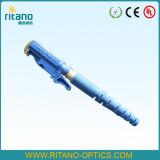 Pérdida más inferior conveniente óptica del conector de fibra de la fuente E2000 de la fábrica de China en 0.2dB