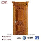 現代家の木の単一の表玄関デザイン前ドアの機密保護のドア