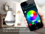 Haut-parleur sec coloré de Bluetooth d'ampoule de DEL et contrôle de $$etAPP