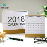 2018 personnaliser le calendrier de bureau de papier d'impression