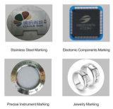 Máquina de la marca del laser de la fibra de los materiales del ABS y del metal