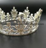 A coroa nupcial personalizada a mais nova de 2018 tiaras de vidro de cristal do Rhinestone de Stonne do casamento da coroa (BC02)