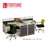Современной деревянной MFC офисной рабочей станции для 2 человек (18-1812 FOH-SS)
