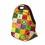 Les fruits Imprimer sac à lunch sac à lunch de dinosaure à isolation thermique Isolation thermique en néoprène de légumes Lancheira femmes Bacs Déjeuner