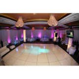 Dance Floor en bois portatif Dance Floor Wedding noir et blanc DIY