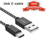 USB печатает кабелю c Nylon Braided длинний тип a USB шнура к заряжатель на машинке для MacBook, LG G6 V20 G5 c быстрый, пиксел Google, цепь 6p 5X, Nintendo