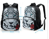소년을%s 큰 3D 동물성 인쇄 아이 책가방 개 동물원 학생 아이들 남자의 학교 책가방 여행 책가방
