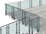 Edelstahl-Balkon-Glasbalustrade, Glaszaun, halb Glasgeländer