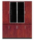 Escritório Bookacse com o gabinete de madeira da mobília de Customied da porta de vidro