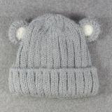 子供の赤ん坊はからかう秋の冬のアンゴラ暖かい編まれたPOM POMの帽子の帽子の帽子の帽子(HW621)を