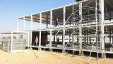 Estructura de acero prefabricada que construye la casa modular del envase de la oficina del edificio con de dos pisos