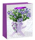 Sac bon d'emballage de cadeau de modèle de fleur de vente Nice en Europe