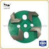 4 de Malende Platen van het Hulpmiddel van de Diamant van segmenten voor het Concrete Oppoetsen van de Vloer