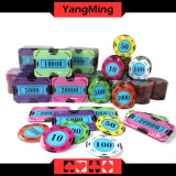 Tela de Cristal Poker Chip Set (730PCS) (YM-SYCP001)