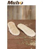 100%の自然な羊皮の独立した靴の靴の中敷の挿入