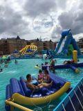 Preiswerter populärer neuer aufblasbarer sich hin- und herbewegender Wasser-Park-Grad-aufblasbarer Wasser-Park für Kind und Adultgames