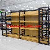Supermercado tienda de ultramarinos de estante de la pantalla flotante de madera MDF
