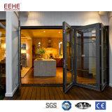 중국에서 알루미늄 선회축 접히는 유리제 정문