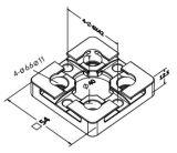 Herramientas del sistema de 3r 54*54 Placa de centrado de acero con el sistema 3r