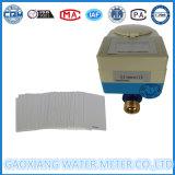 Pré-pagamento de cartão IC de latão contadores de água com válvula de motor DN15-DN25