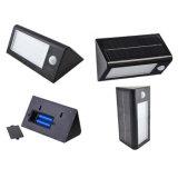 Beleuchtung-Garten-Yard-Sicherheits-Wand-Solarlampe wasserdichtes IP65 des Sonnenenergie-Bewegungs-Fühler-32 LED helle im Freien