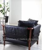 Sofá de couro de sala de estar moderno de ponta