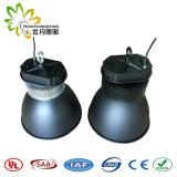 실내 옥외 LED UFO Highbay 가벼운 IP65는 150W UFO LED 높은 만 전등 설비를 흐리게 하기 방수 처리한다
