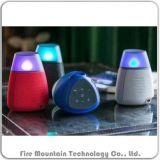 펄스 4 다채로운 LED 빛 직물 무선 휴대용 스피커