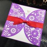Invitaciones de boda de encargo de encargo de las tarjetas de papel de la tarjeta de felicitación