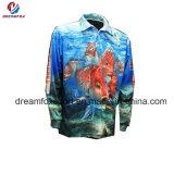 Qualitäts-eindeutige kundenspezifische Fischen-Kleid-Sublimation-Drucken-Fischen-Hemden