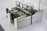 4 places Modular demi-mur Bureau de poste de travail de partition de verre (SZ-WST801)
