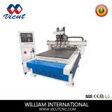 Auto router do CNC de Chnager do eixo com eixo Transversal