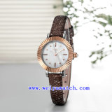 Reloj modificado para requisitos particulares reloj de encargo de la mujer de la insignia (WY-030E)