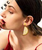 De recentste Citroen van de Juwelen van de Manier bengelt Oorringen voor Vrouwen