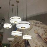 2017 lámpara pendiente de interior del hierro +Glass de la decoración de la suspensión contemporánea creativa caliente de la venta