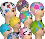 印刷のナイロン子供の水泳の帽子をカスタマイズしなさい