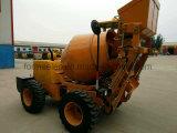 1 Cbm 4 Concrete Mixer van de Lading van de Kipwagen van de Dieselmotor van de Slag de Zelf