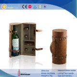 Botella de vino de cuero de PU con Accesorios Caja de embalaje (4276R2)