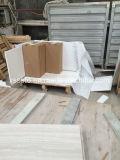 Mattonelle di legno bianche del marmo del grano per il pavimento & la parete