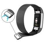 Imán de alta calidad de bucle milanés de la banda de reloj de Fitbit cargar 2