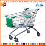 Supermarkt-Euroart-Zink-oder Chrom-Einkaufswagen-Laufkatze (Zht15)