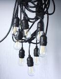 Bulbos incandescentes de cristal claros de Dimmable Edison de las bombillas de S14 LED