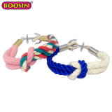 Moda Vender Quente Encanto Âncora Personalizado barato bracelete de cordas coloridos