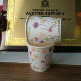 Solas tazas de café dobles del papel de empapelar de la nueva venta al por mayor del estilo con las tapas en fuente de la fábrica de la alta calidad