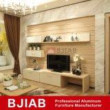 Basamento domestico personalizzato dell'alluminio TV della mobilia di Fontainebleau del legno di sandalo giallo moderno