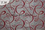 Tessuto rosso della mobilia del poliestere delle Filippine del jacquard (fth31942)