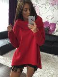 Mulheres Hoodies com o tampão longo - camisola Sleeved Hoody para o inverno